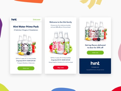 Hint Mobile Landing Page