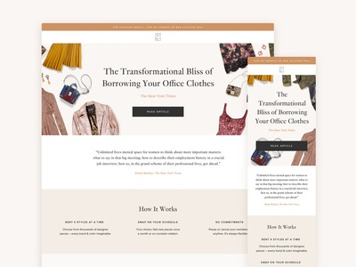 Rent the Runway Landing Page