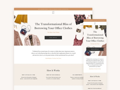 Rent the Runway Landing Page sketch website landing ios homepage grid web web design ux ui template responsive product page mobile layout landing page interface design app