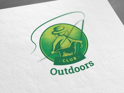 Club Outdoors Visual Identity visual identity branding green illustrator vector sketches outdoors logo