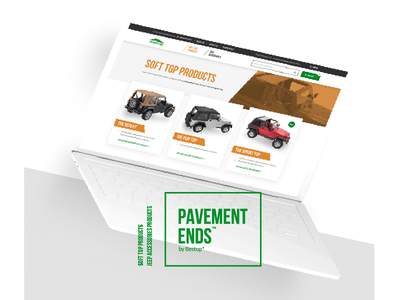 Pavement Ends online store logo interaction design product page homepage mockup ux ui commerce online store
