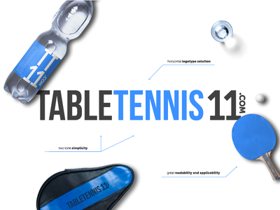 Brand identity guidelines - TableTennis11 visual identity table tennis logo graphic design style guide branding ecommerce
