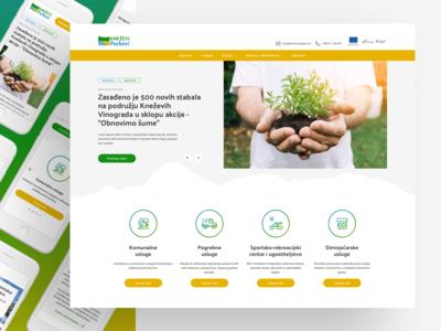Kneževi parkovi - responsive web design