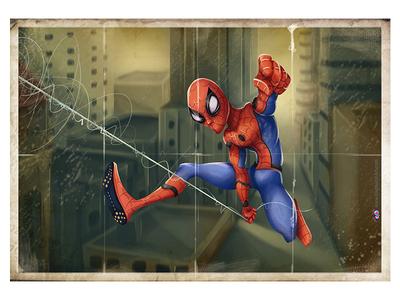 SpiderMan Homecoming Spiderman Vintage Poster