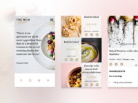 The Milk, mobile version, blog