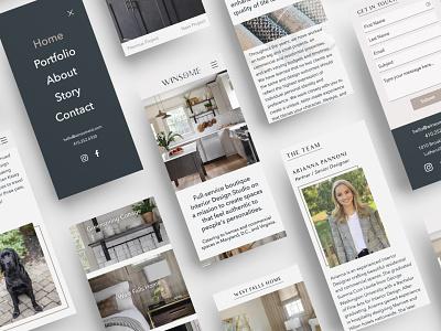 Interior Design Studio Website branding and identity interior design mobile design web design sophisticated ui