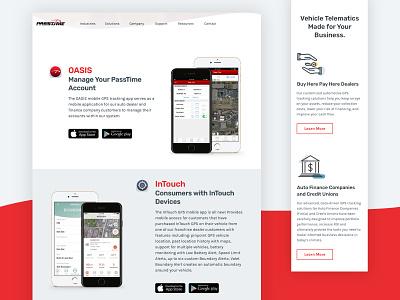 PassTime Automotive GPS icons web design branding