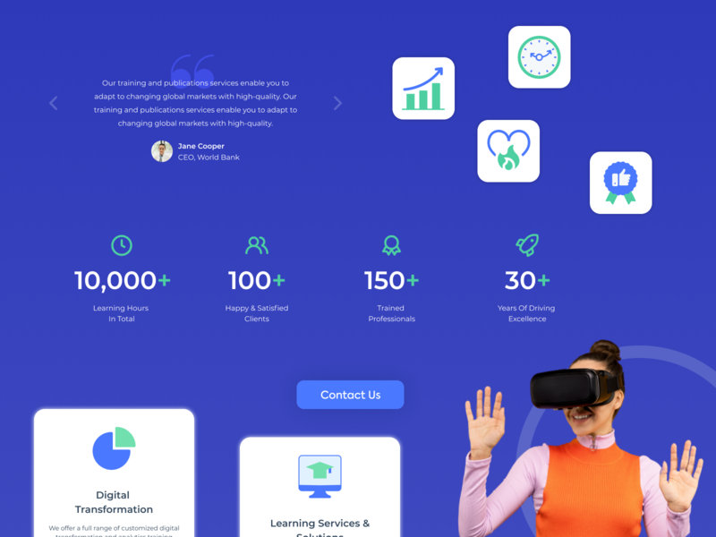 Component Library of the $10 Landing Page landing page design free download stock learning management system classes virtual learning illustrations icons library design system components landin page