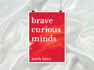 Big Brave Minds Office Poster
