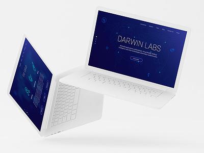 Darwin Labs - Home Page Redesigned gurgaon labs darwin technology blockchain design interaction user interface landing home virtual ai