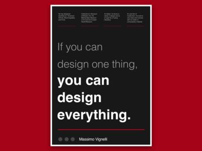 Mossimo Vignelli Poster