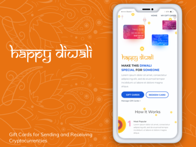 Mobile View for Koinex Diwali Gift Cards