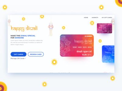 Website Design for Crypto Gift Cards for Diwali