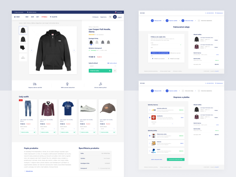 VEAR / Fashion e-commerce template