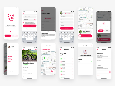 Loqito – Bluetooth lock for bikes icons mobile design bikers bike ride bike sharing ios uidesign mobile application security bike security bike lock lock bike mobile app design mobile app mobile ui design app ui ux
