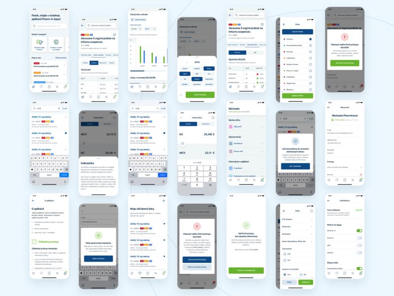 Pharm-In Apps / Overview ios mobile design mobile ui mobile app pharma medical app medical pharmacy pharmaceutical pharmacist app ui ux