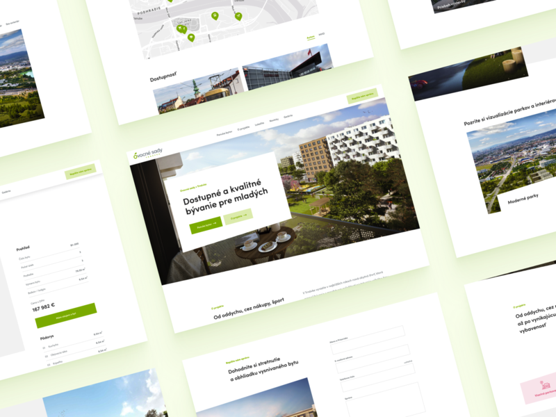 Ovocne sady / Website concept architectural architecture architect uxdesign builders building developer constructor real estate project real estate construction company construction bratislava web webdesign ui ux