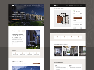 LuxApartments.sk / Website apartments for sale flat ux  ui golf construction web design building uxdesign apartments apartment real estate website design website ux design minimal design web webdesign ui ux