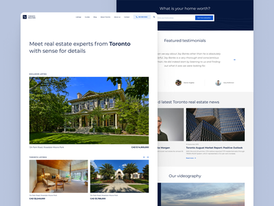 Toronto realtors / Website homepage design homepage website real estate logo real estate agent real estate realtors realestate realtor website design web design uxdesign web webdesign ui ux