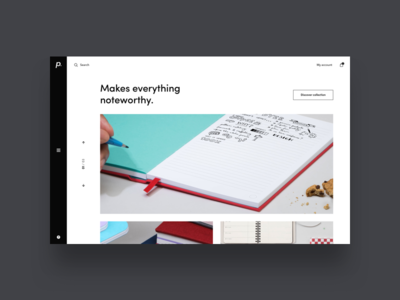 paperan / shopping exploration / collection exploration minimal slider eshop ux ui webdesign design shop e-commerce homepage