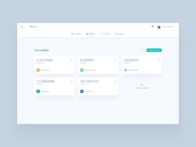Crypto Accounts Management app webdesign ux ui wallet management dashboard crypto