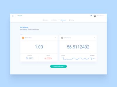 Crypto App / Exchange crypto exchange ui ux webdesign dashboard app currency bitcoin litecoin