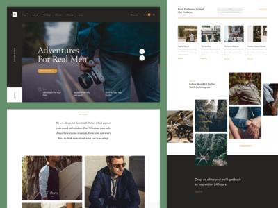 Taylor Stitch / Redesign Concept brand fashion categories slider homepage ux ui webdesign taylor stitch