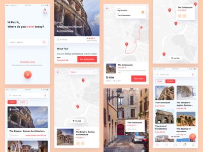 Visual Exploration For Moly / City Guide App ios guide navigation mobile app ux ui augmented reality ar city guide moly