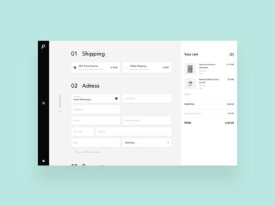 paperan / shopping exploration / checkout process webdesign ux ui ecommerce shipping cart checkout process shopping paperan