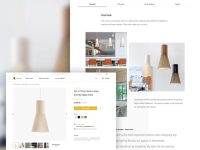 Lights4You / Product detail psychology lights webdesign ux ui eshop ecommerce product detail