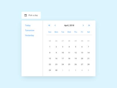 Date Picker / Sketchcomponents.com web pattern component calendar date picker webdesign ux ui