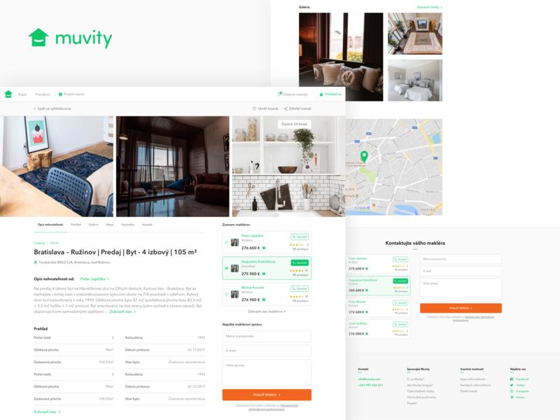 Muvity / New way how to search & buy real estates e-commerce web detail search home house flat real estate agent real estate platform webdesign ui ux muvity