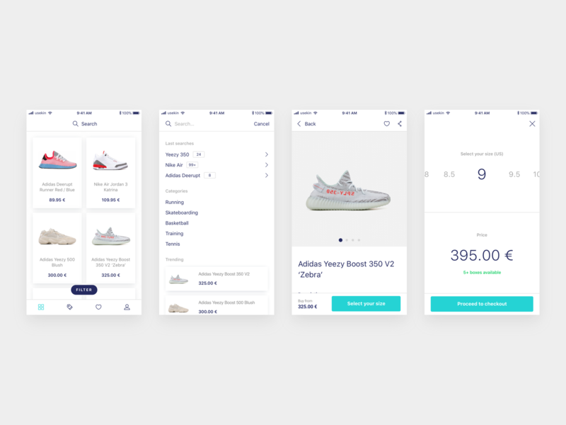 Fluffy / Sneakers App / Shopping experience sneakers mobile animation mobile app design ecommerce app e-commerce ux ui