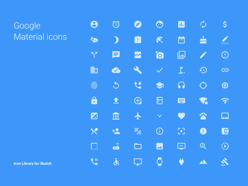 Google Material Icons – Library for Sketch ux web webdesign atomic design components library assets material material icons icons ux process ux design ui