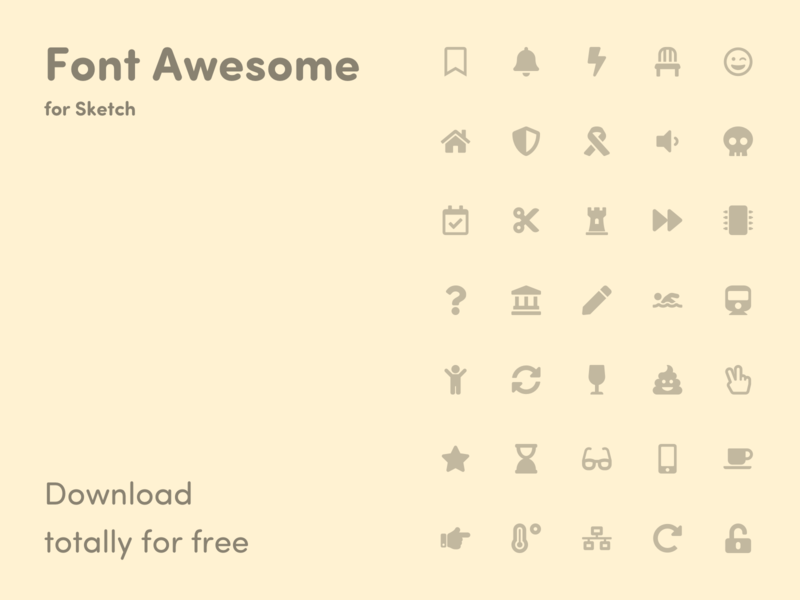 Font Awesome Icons – Library for Sketch icons set icons pack icon app design app icon library icons font awesome