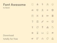 Font Awesome Icons – Library for Sketch
