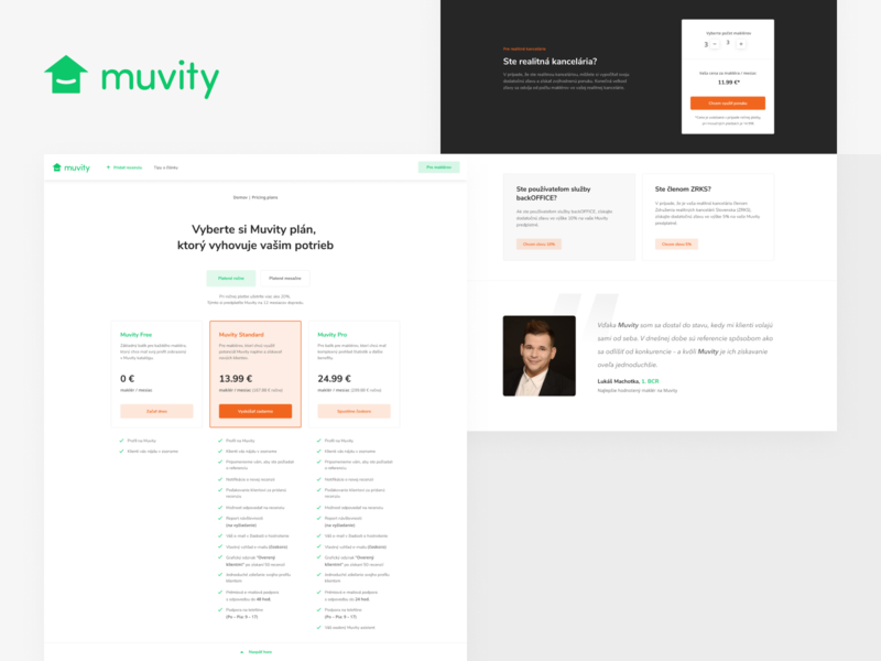 Muvity – pricing plans saas web startup pricing table pricing plans pricing page pricing e-commerce webdesign ux