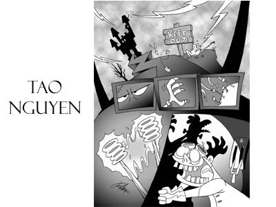 Tao Nguyen's Franken Chicken Artwork moviefanart frankenstein halloween spooky disney characterdesigns sketchdrawings cartoondrawings storyboards conceptart taonguyen