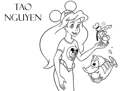 Tao Nguyen's The Little Mermaid Concept Drawing