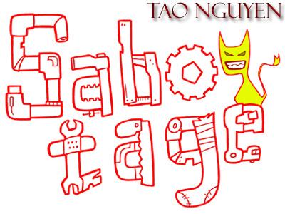 Tao Nguyen's Sabotage Logo gremlins photoshop drawing cartoon sabotage logo animation characterdesign illustration sketchdrawing conceptart taonguyen