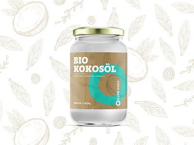 Coco Nativo Lable coconut bio bulgaria sofia design lable jar oil coco