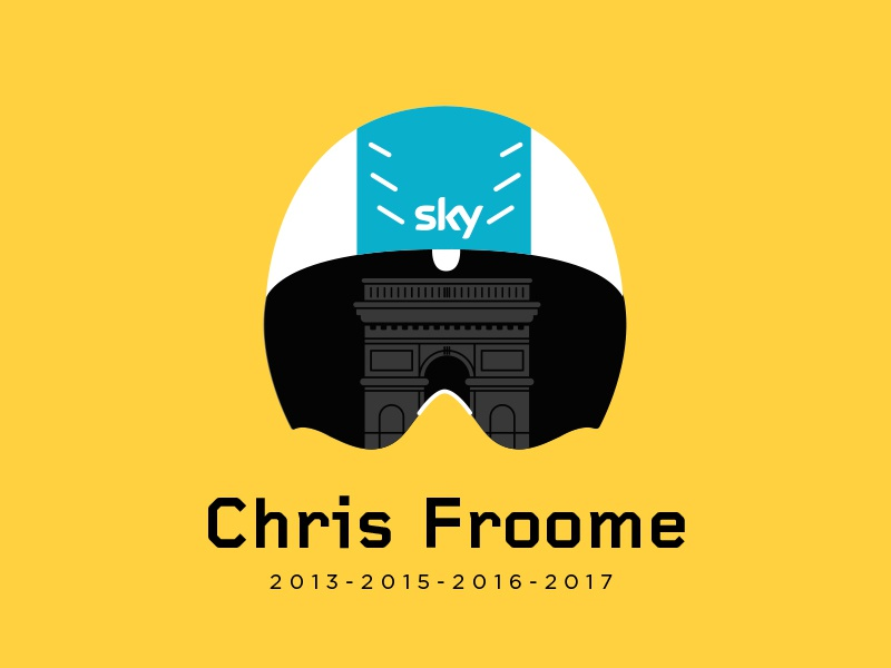 4x TourDeFrance Winner bulgaria sofia illustration flat 207 winner tour de france race roadbike cycling chris froome