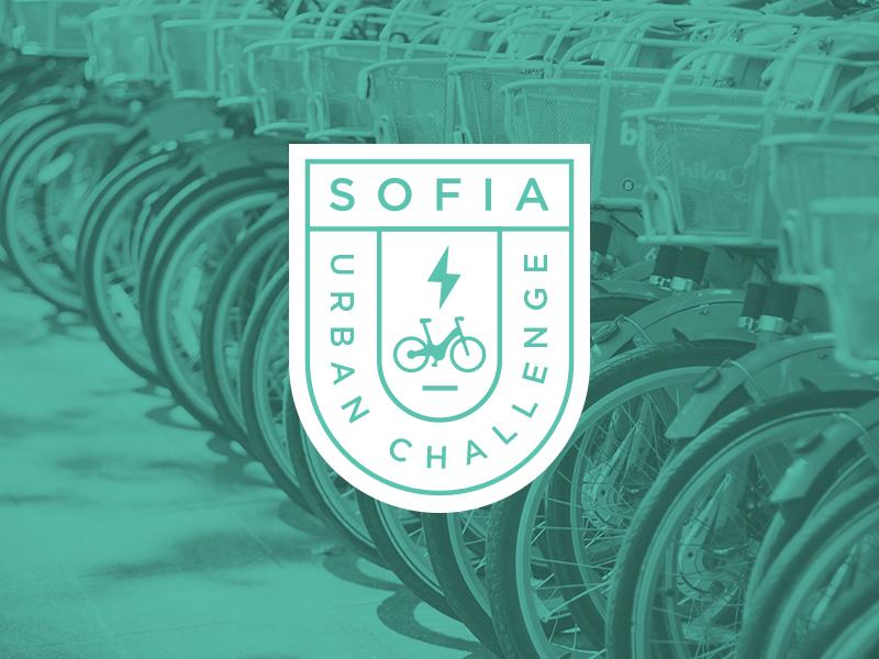 Sofia Urban Challenge / E-Bike Sharing Logo cleantech bulgaria sharing e-bike badge logo challenge urban sofia