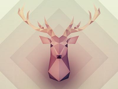 My Deer Friend deerhead illustration lowpoly