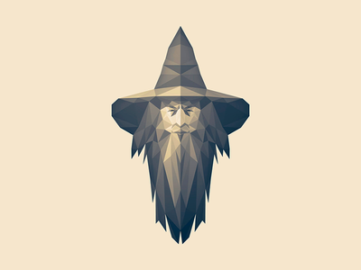 Gabber Gandalf lotw lotr gandalf illustration lowpoly