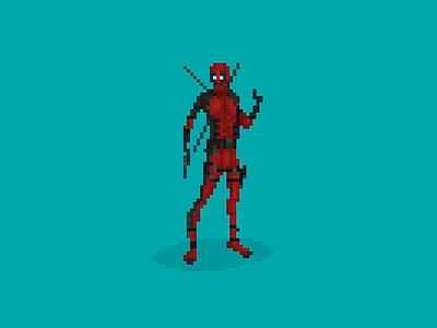 Deadpool Pixelart illustration pixelart deadpool