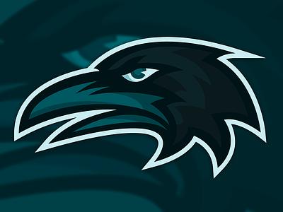 Gonzo illustration gonzo raven logo sports