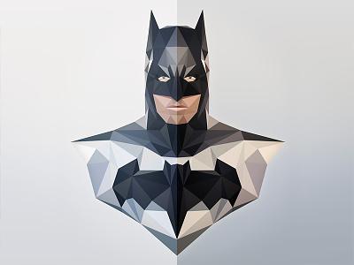 NANANANANANANANA... illustration lowpoly dark knight batman