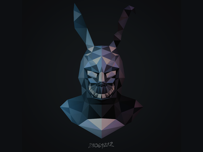 Happy Easter, Donnie! illustration low poly frank donnie darko easter