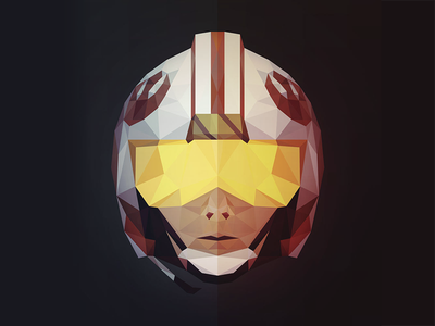 May the 4th be with you! luke skywalker illustration low poly may the 4th star wars day star wars